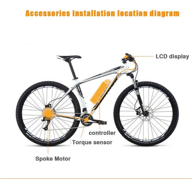 """72 v 3000 W eBike Bicicleta eléctrica Kits de conversión de Motor Para Bicicleta 20 """"24"""" 26 """"28"""" trasero de la rueda delantera"""