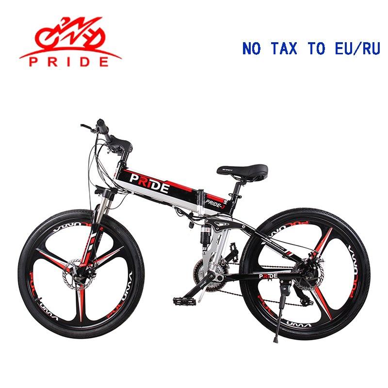 Bicicleta eléctrica de 26 pulgadas de aluminio plegable bicicleta eléctrica 500 W 48V12. 5A batería de litio 21 velocidades bicicleta eléctrica de montaña sin impuestos a la UE