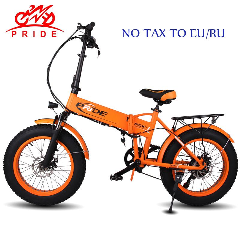 """Orgullo de la bicicleta eléctrica 48V12A eléctrica grasa de neumáticos de bicicleta 20 """"de aluminio Folding350W 6 velocidad eléctrico bicicleta de montaña ebike sin impuestos la UE/RU"""