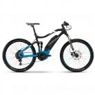 Bicicleta de montaña Haibike Sduro fullseven 5.0, color negro / azul / blanco mate