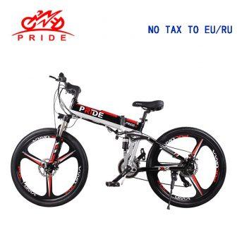 Bicicleta eléctrica de 26 pulgadas de aluminio plegable bicicleta eléctrica 500 W...