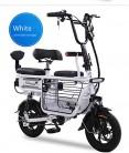 Bicicleta eléctrica Mini Plegable Dos Baterías de litio redondas