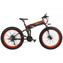 Bicicleta T750Plus 27 Speed 26 * 4.0 Fat, bicicleta eléctrica plegable 500W