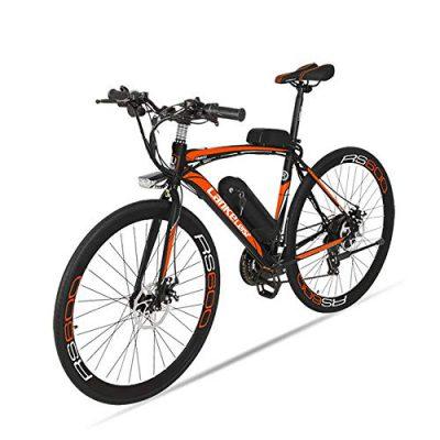BNMZX Bicicleta eléctrica, Bicicleta de Carretera Masculina/Femenina orange
