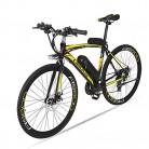 BNMZX Bicicleta eléctrica, Bicicleta de Carretera Masculina/Femenina yellow