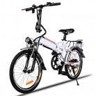 Bunao Bicicleta eléctrica de montaña, 250W, Batería 36V E-Bike blanca