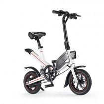 """Chicstyleme Bicicleta Eléctrica Plegable de Marco de Aleación de Aluminio, 12"""" blanco"""