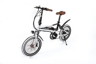 Cityboard Tourneo Bicicleta Eléctrica, Unisex Adulto, Blanco/Negro, 20″