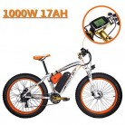eBike_RICHBIT 022 Bicicleta eléctrica Cruiser Ciclismo 1000W blanco naranja