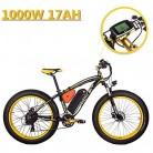 eBike_RICHBIT 022 Bicicleta eléctrica Fat Tire neumático Bicicleta Cruiser Ciclismo 1000W amarillo negro