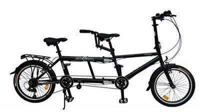ECOSMO 50,8 cm nueva ciudad bicicleta plegable Tandem 7SP – 20TF01BL