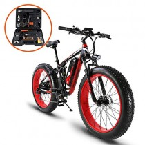 Extrbici XF800 1000W 48V 13AH Bicicleta eléctrica 26 ' roja