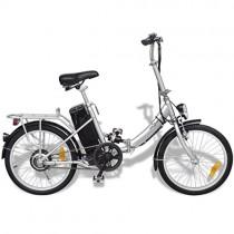 Festnight Bicicleta Eléctrica Plegable con Batería Litio-Ion 24V