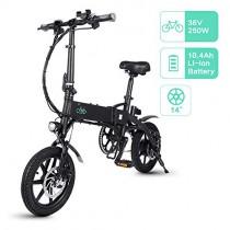 FIIDO D1 Bicicleta Eléctrica Urbana, 250W 7.8Ah/10.4Ah Ebike Plegable con Led Luz
