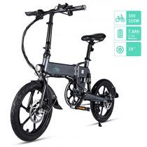Fiido D2/D2S Bicicleta Eléctrica Plegable, 7.8Ah 36V EBike 250W con 25km/h de Velocidad