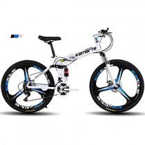 FJW Bicicleta de montaña para Hombres, Ruedas de 26″de 3 Pulgadas