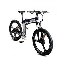 GTYW Bicicleta eléctrica plegable de montaña para adulto de 26″-90 km de vida