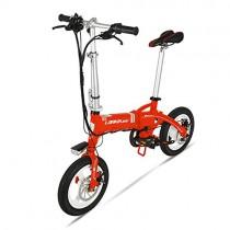 GTYW, Eléctrico, Plegable, Bicicleta, Montaña, Bicicleta, Ciclomotor Adulto naranja