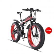 GUNAI Bicicleta de Montaña Eléctrica 26 Pulgadas E-Bike Sistema de Transmisión