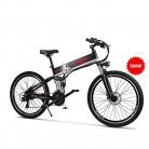 GUNAI Bicicleta de Montaña Eléctrica Plegable 26 Pulgadas Bicicleta 21 Speed