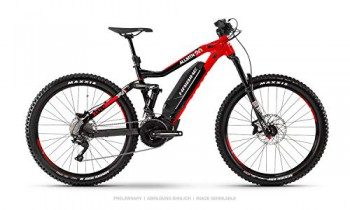 Haibike XDURO AllMtn 2.0 Yamaha 2020 – Bicicleta eléctrica (44 cm), Color Negro, Rojo y Blanco