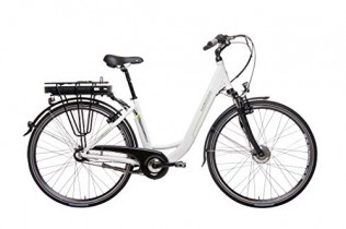 Hawk City Wave – Bicicleta eléctrica (28″), Color Blanco