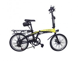 Helliot Bikes ByHelliot01 Bicicleta Eléctrica Plegable, Unisex Adulto, Amarillo/Negro