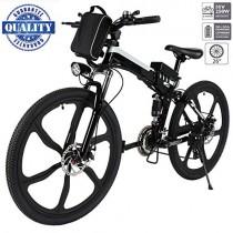 Hiriyt 26″ Bicicleta eléctrica de montaña, 250W, Batería 36V E-Bike black