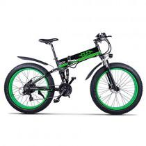 Huaeast Bicicleta eléctrica de montaña, 26″ 1000W Batería 48V E-Bike
