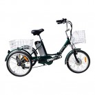 JORVIK 20 Brazalete DE Aluminio ELÉCTRICO Trike Viaje 250W 36V (Green)