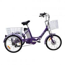JORVIK 20 Brazalete DE Aluminio ELÉCTRICO Trike Viaje 250W 36V (Purple)
