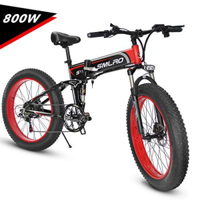 KUDOUT Bicicleta eléctrica de montaña, 800W, Batería 48V 26″ E-Bike