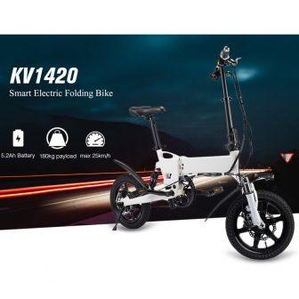 KV1420 inteligente plegable bicicleta eléctrica ciclomotor eléctrico bicicleta 5.2Ah batería/enchufe de la...