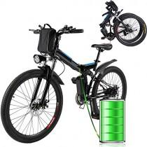 Laiozyen Bicicleta Eléctrica Plegable 250W Unisex Adulto Bicicleta eléctrica Urbana noir