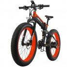 Lankeleisi – Bicicleta eléctrica de montaña plegable naranja