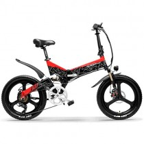 LANKELEISI G650 Bicicleta eléctrica Plegable de 20 Pulgadas 400W 48V