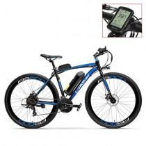 LANKELEISI RS600 700C Asistente de Pedal Ebike, batería 36V 20Ah blue