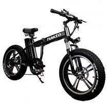MERRYHE Bicicleta De Montaña Eléctrica De 20 Pulgadas 350W 48V
