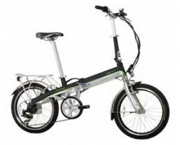 Monty EF39 – Bicicleta eléctrica, color negro/verde/plateado, 12″/20″