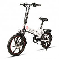 Nishore Bicicleta Eléctrica Plegable 20 Pulgadas Power Assist Electric Bicicleta