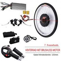 OUKANING – Kit de conversión de Motor eléctrico para Bicicleta de 48 V, 1000 W