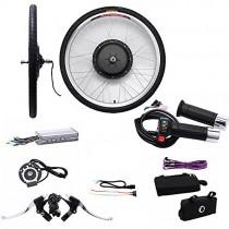 OUkANING – Kit de conversión de rueda delantera de 66 cm (26″) para bicicleta eléctrica