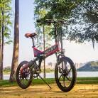 RICH BIT RT730 Bicicleta Eléctricas LCD Inteligente Bicicleta Plegable roja