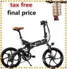 RICH BIT ZDC RT-730 Bicicleta eléctrica Plegable de 20 Pulgadas negra