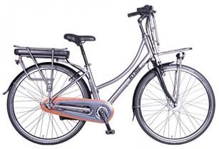 Rymebikes Cargo Bicicleta de Paseo Eléctrica, Unisex Adulto, Gris, 42
