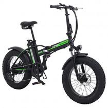 Shengmilo 500W Bicicleta eléctrica Plegable Montaña Nieve E-Bike verde