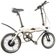 SK8 eBike Urban Beetle Bicicleta eléctrica plegable, Blanco