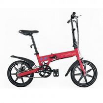 Smartgyro Ebike Red – Bicicleta Eléctrica Plegable con asistente al pedaleo, ruedas de 16″
