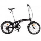 Ultrasport 331100000184 Bicicleta Plegable, 7 Marchas, Unisex Adulto, Negro