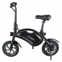 Windgoo Bicicleta eléctrica Plegable Ruedas de 12″,Batería de Litio de 6000-36v,Ebike para Adulto black